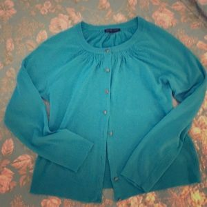 Pretty blue New York and company cardigan M